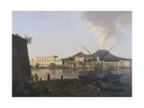 The Port of Granatello in Portici, Near Naples Giclee Print by Josef Rebell