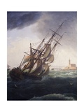 Vessel Entering Port of Cette, 1757 Giclee Print by Claude-Joseph Vernet