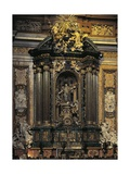Altar Dedicated to St Ignatius of Loyola Giclée-tryk af Andrea Pozzo