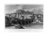 Elvet Bridge, Durham, Engraved by … Frances after W. Westall, 1829 Giclee Print