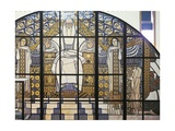 Cardboard Model of the Stained-Glass Window, Paradise Impression giclée par Koloman Moser
