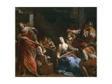 Achilles Among Daughters of Lycomedes Giclee Print by Alessandro Tiarini