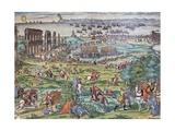 Charles V's Army Against Tunis, 1535 Giclee Print by Franz Hogenberg