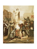 Joan of Arc at the Stake, May 30, 1431 Giclee Print by Frederic Legrip