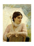 Portrait of Artist's Wife with Umbrella Giclee Print by Michele Gordigiani