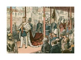 The Coronation of Wilhelm I, King of Prussia and First German Emperor Giclee Print by Carl Rohling