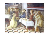 Delivery of Head of John Baptist to Beautiful Herodias Giclee Print by Filippo Lippi