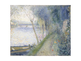 Landscape at the Edge of the Seine with the Pont D'Argenteuil Giclée-tryk af Pierre-Auguste Renoir