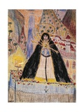 The Virgin of Seven Daggers, Drawing Giclee Print by Federico Garcia Lorca