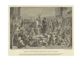Solomon Eagle Preaching During the Plague of London Giclee Print by Paul Falconer Poole