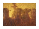 The Chariot of the Sun or Triumph of Commerce, 1907 Giclee Print by Gaetano Previati