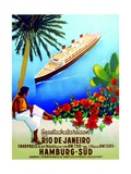 To Rio De Janeiro', Poster Advertising the Hamburg Southern Line, 1929 Giclee Print
