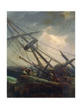Salvaging Vessel, Detail from Tempest, 1777 Giclee Print by Claude Joseph Vernet