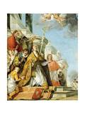 Pope Benedict and Saint Louis XI of France Giclee Print by Francesco Zugno