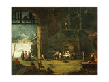 The Winter, the Arrival of a Nobleman at the Villa Giclee Print by Antonio Diziani