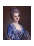 Portrait of Lady in Blue Giclee Print by Francois Hubert Drouais