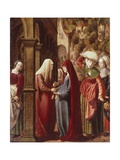 The Visitation, Detail from Scenes of the Life of the Virgin, 1511 Giclee Print by Marx Reichlich