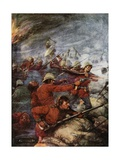 Battle of Rorke's Drift, Natal, Angol-Zulu War, 1879 Giclee Print by Joseph Ratcliffe Skelton