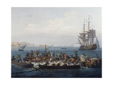 Gulf of Bandol or Fishing for Tuna, 1754 Giclee Print by Claude-Joseph Vernet