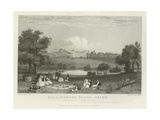 Hallingbury Place, Essex, the Seat of J a Houblen, Esquire Giclee Print by William Henry Bartlett