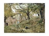 Peasant in Montemurlo Countryside Giclee Print by Telemaco Signorini