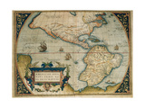 Map of American Continent, Theatrum Orbis Terrarum Giclee Print by Abraham Ortelius