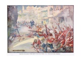 British Soldiers Were Fighting their Way Through the Streets Giclee Print by Joseph Ratcliffe Skelton