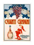 Poster Advertising Chianti Campani, Milan, 1940 Giclee Print
