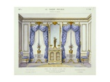 Louis XVI Style Interior Showing Furniture from a French Periodical, 1950S Giclee Print