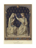 Ivory Sculpture of the Coronation of the Virgin, 14th Century Giclee Print