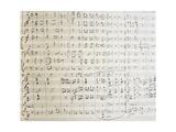 New World Symphony, Handwritten Score by Antonin Leopold Dvorak Giclee Print