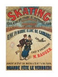 Poster Advertising a Roller Skating Rink in Paris, 1905 Giclee Print