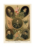 Famous Spanish Historical Figures of the 16th Century Giclee Print