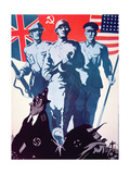 Poster Promoting the Anglo-American-Soviet Alliance, C.1942 Giclee Print