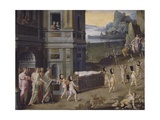 Cupid's Funeral, Work from the Workshop of Antoine Caron Giclee Print