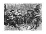 Argentinian Gaucho Playing Guitar, by Emilio Daireaux Lámina giclée