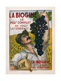 Poster Advertising 'La Biogine', Published by Affiches D'Interieur, C.1930 Giclee Print