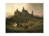 King Matthias Corvinus Just Returning from Hunting, 1872, by Antal Ligeti Giclee Print