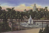 Parque Fraternidad, Estatua De La India, Fraternity Park, India Statue Photographic Print
