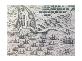Siege and Capture of Santiago, in Cape Verde Archipelago by Francis Drake Giclee Print