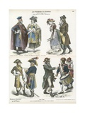 Costumes of Revolutionary France, Late 18th Century Giclee Print