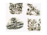 Scenes from Swallows and Amazons by Arthur Ransome Giclee Print