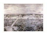 Design-Reconstruction Depicting the Ruins in Chichen Itza Giclee Print