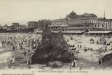 Postcard Depicting the Casino and Grande Plage in Biarritz Photographic Print