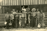 Fec Oversea Railway Workers Show Off their Catch, C.1907 Photographic Print
