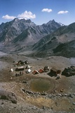 Aconcagua, Cerro Catedral and Base Camp Plaza De Mulas Photographic Print