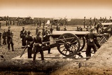 1st Connecticut Heavy Artillery Manning Guns in Fort Richardson, Late 1861 Photographic Print