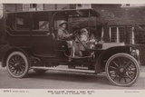 Miss Ellaline Terriss and Baby Betty in Thier 40 Hp 4 Cylinder Fiat Car Photographic Print