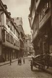 Postcard Depicting a Narrow Street Behind the Lamb Photographic Print