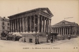 Postcard Depicting La Maison Carree and the Theatre in Nimes Photographic Print